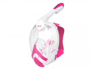 SNORKEL FULL-MASK S/M WHITE-PINK