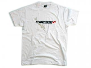 T-SHIRT CRESSI TEAM Size XXL-Man White