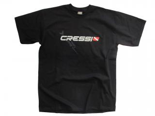 T-SHIRT CRESSI TEAM Size S-Man Black