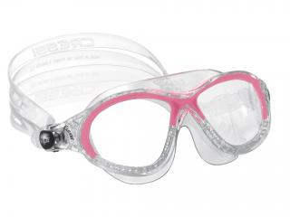 5143aeb49f59 Cressi COBRA JUNIOR Pink-Transparent - Swimming   Snorkel - Mask ...