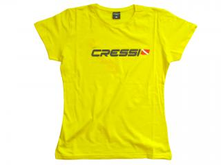 T-SHIRT CRESSI TEAM Size M-Lady Yellow
